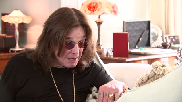 ozzy osbourne interview re winning golden god award england int ozzy osbourne interview re his award losing his peers fans sot - ozzy osbourne stock videos & royalty-free footage