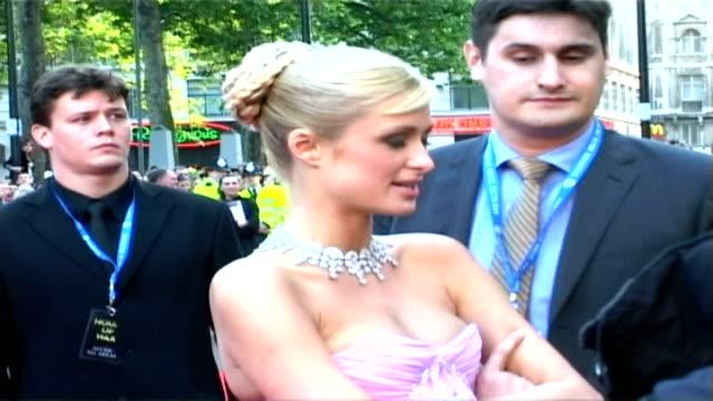 Paris Hilton releases single R24050519 Leicester Square Paris Hilton being interviewed