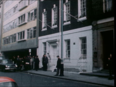 paul mccartney breaks from the beatles england saville row london gv tilt down exterior apple hq cms statements distributed by girl - 1970 stock videos & royalty-free footage