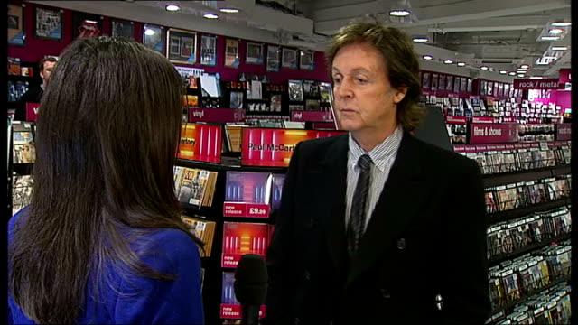 paul mccartney releases new album; mccartney interview sot - paul mccartney stock videos & royalty-free footage
