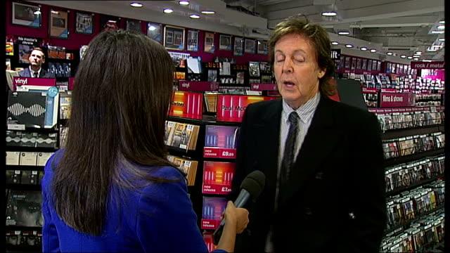 paul mccartney releases new album; sir paul mccartney interview sot - paul mccartney stock videos & royalty-free footage