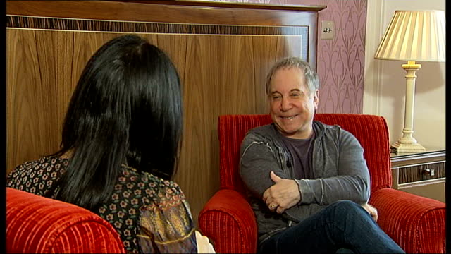 paul simon interview england london int paul simon interview sot on rave reviews for his new album 'so beautiful or so what' on it being his first... - afterlife stock videos and b-roll footage