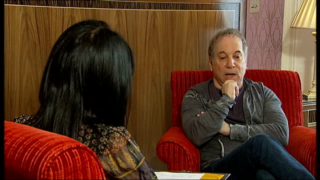 Paul Simon interview Paul Simon interview SOT On who he thinks are great songwriters doesn't listen to a lot of new acts his son plays all kinds of...