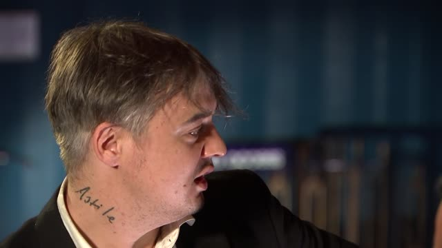 pete doherty interview; doherty interview sot - on being offered methodone during nantes concert / on being clean for the bataclan / on giving up by... - nantes stock videos & royalty-free footage
