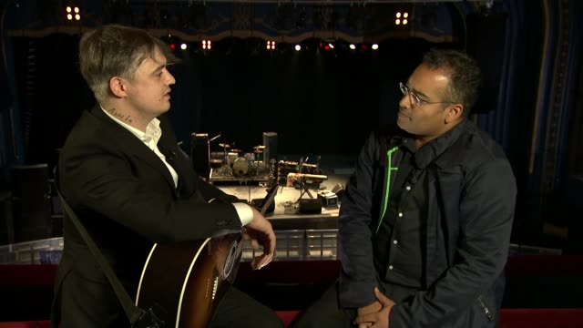 pete doherty interview doherty interview sot on experience of being in the libertines don't call me a rockstar like me calling you a daytime tv host... - rocking stock videos & royalty-free footage