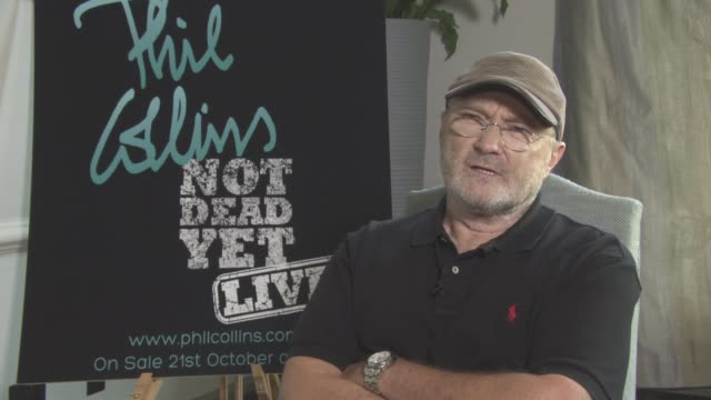 phil collins interview; england: london: south kensington: int phil collins interview sot - re back surgery, retrun to performing after ten years - phil collins stock videos & royalty-free footage