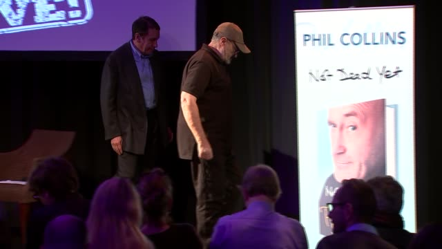phil collins qa with jools holland phil collins along from stage - phil collins stock videos & royalty-free footage