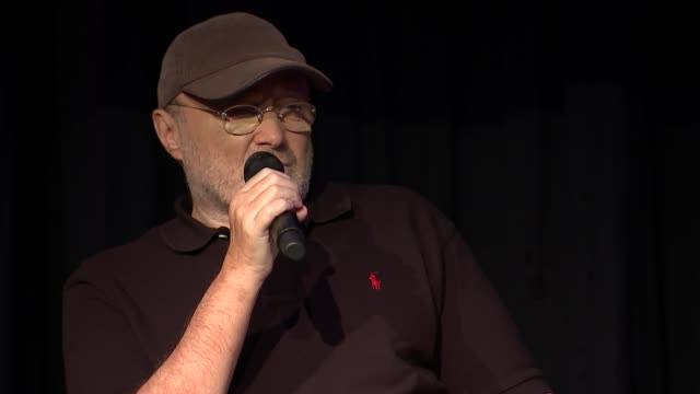 phil collins q+a with jools holland; phil collins question and answer session sot - jools holland stock-videos und b-roll-filmmaterial