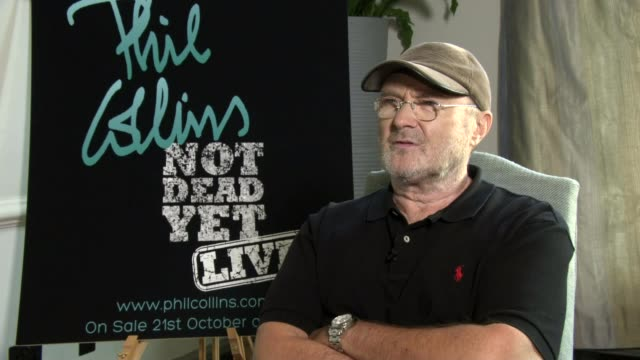 phil collins to come out of retirement after ten years; phil collins interview sot - phil collins stock videos & royalty-free footage