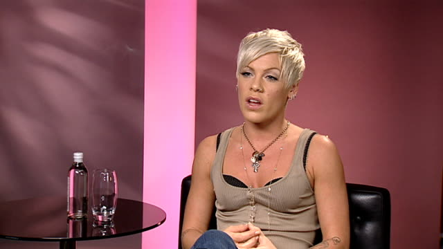 Pink interview Pink interview SOT On needing his vulnerability in the video to avoid sounding bitter and man hating