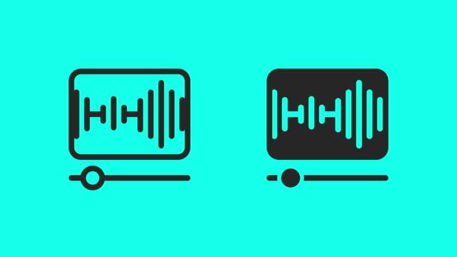 vidéos et rushes de icônes du lecteur de musique - vector animate - tournage
