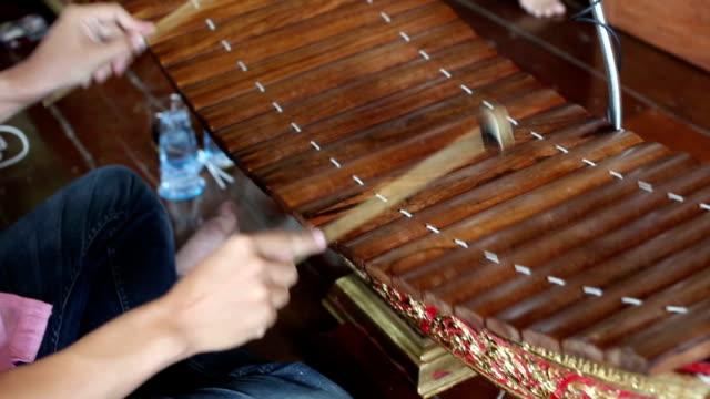 Music Playing of Bamboo Xylophone Mat (Ranat), 1080p Full HD