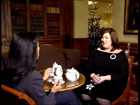 'pop idol' winner michelle mcmanus promoting new single; fireplace mcmanus chatting to nannar 2-shot michelle mcmanus interviewed sot - if i can keep... - pop music stock videos & royalty-free footage