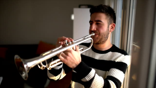 music practice - trumpet stock videos & royalty-free footage
