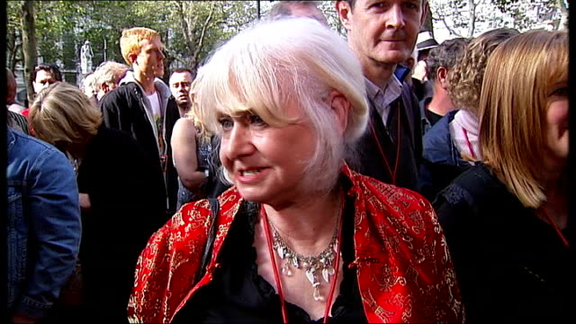 premiere of john otway documentary leicester square ext otway fan with long pink hair vox pops fans sot otway signing autographs for fans queue of... - final chance stock videos & royalty-free footage