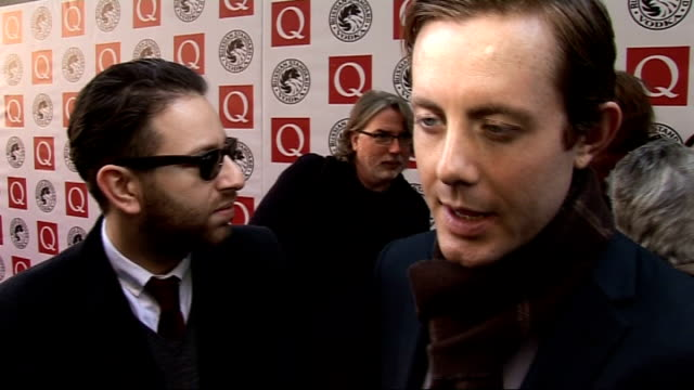 Q Awards 2010 celebrity interviews 'Chase and Status' members Saul Milton and Will Kennard interview SOT Did three gigs last night / Up for 'Best...