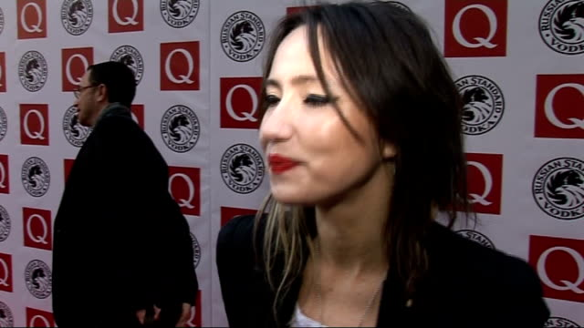 q awards 2010 celebrity interviews kt tunstall speaking to press and interview sot on the q awards / her new album / american tour / wedding gift for... - popular music tour stock videos and b-roll footage