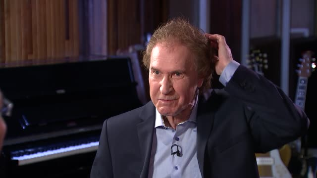 ray davies interview; england: london: int ray davies answering mobile phone and interview sot - re the kinks reunion cutaways reporter - the kinks stock videos & royalty-free footage