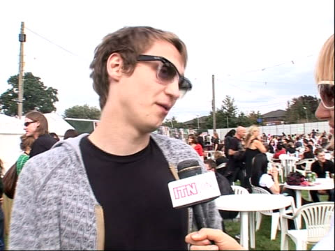 reading festival 2008: band interviews; billy lunn interview sot - on his last interview with reporter 3 years ago / on loving reading festival / on... - reading and leeds festivals stock videos & royalty-free footage