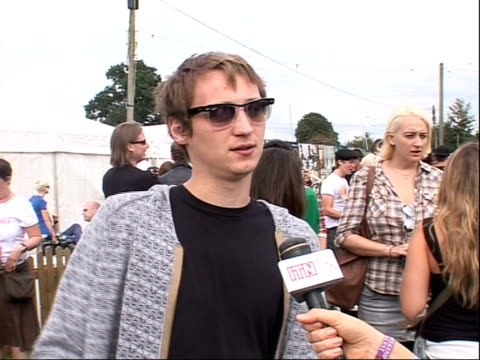 reading festival 2008 band interviews billy lunn interview sot on making a third album - reading and leeds festivals stock videos & royalty-free footage