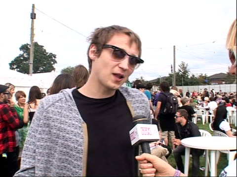 reading festival 2008: band interviews; billy lunn interview sot - more of dave grohl / on supporting foo fighters / on touring and playing festivals... - reading and leeds festivals stock videos & royalty-free footage