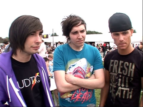 reading festival 2008 band interviews three unidentified members of you me at six interview sot on performing at reading festival / on their success... - reading and leeds festivals stock videos & royalty-free footage
