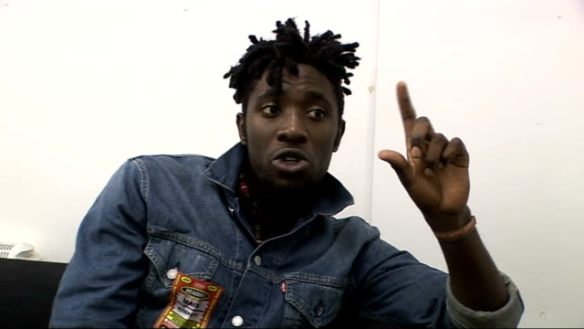 reading festival 2009 interview with kele okereke from bloc party kele okereke interview sot on liking idea of putting out another record a... - reading and leeds festivals stock videos & royalty-free footage