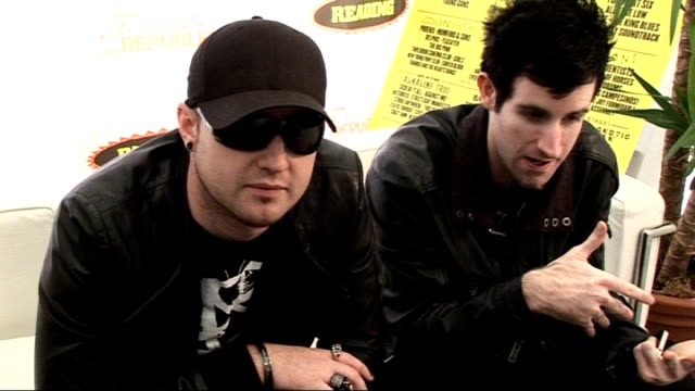 reading festival 2010 interviews pendulum interview sot on reading being festival that helps launch bands / talk generally what's so great about... - reading and leeds festivals stock videos & royalty-free footage