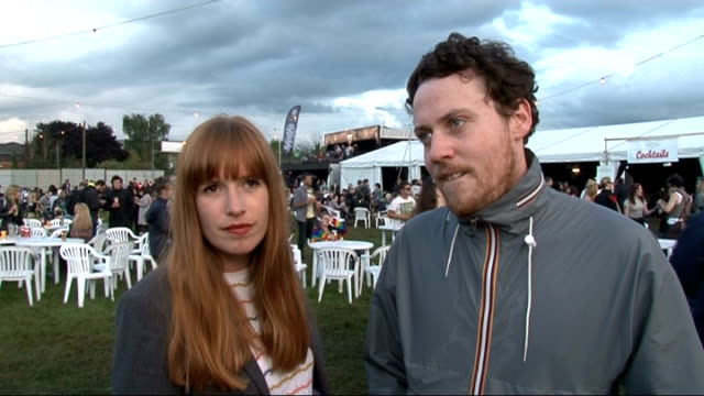 vídeos y material grabado en eventos de stock de reading festival 2011: celebrity interviews; metronomy interview sot - on their performance / reading festival / who they want to see / patrick... - reading and leeds festivals