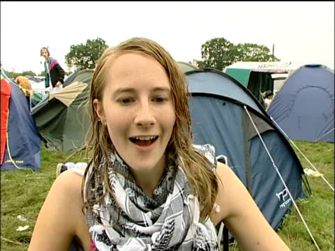reading festival arrivals; vox pops festival goers sot - reading and leeds festivals stock videos & royalty-free footage