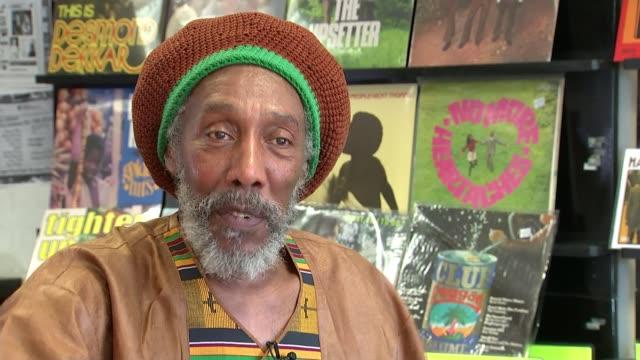 reggae record label trojan records celebrates; england: london: int locksley gichie interview sot. - レゲエ点の映像素材/bロール