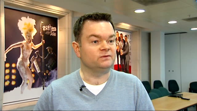 report on success of tv show glee england int phil matcham interview sot talks of glee influencing the charts - glee tv show stock videos and b-roll footage