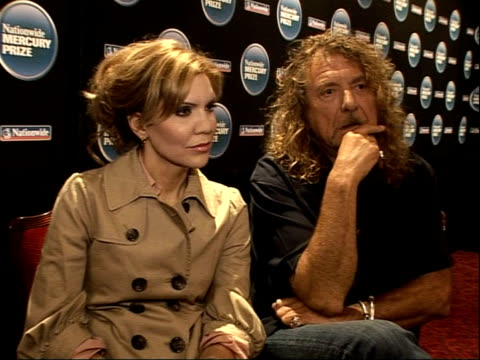 robert plant alison krauss and the portico quartet interviews nothing like mercury prize in america got the radiohead album but haven't listened to... - アルバムのタイトル点の映像素材/bロール