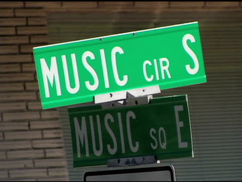 music row street signs five shots - nashville stock videos & royalty-free footage