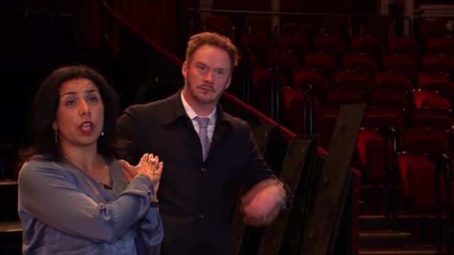 russell watson interview / royal albert hall interiors and archive nina nannar and russell watson along through royal albert hall as talking sot... - royal albert hall stock videos and b-roll footage