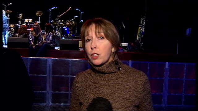 band play at o2 arena; england: london: o2 arena: int reporter to camera graham gouldman interview sot - band is lot of pleasure / been doing it for... - toyah willcox stock videos & royalty-free footage