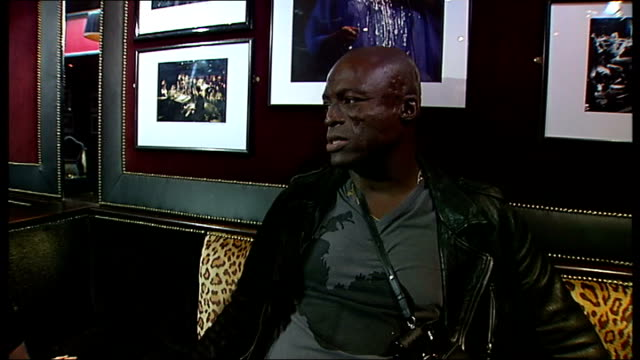 seal interview england london int seal interview sot discusses his new album and playing live at ronnie scott's club - seal singer stock videos and b-roll footage
