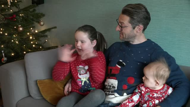seven-year-old girl set to release christmas charity single; england: london: int betsy griffin interview sot - primary age child stock videos & royalty-free footage