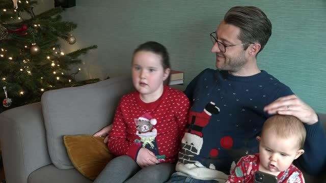seven-year-old girl set to release christmas charity single; england: london: int betsy griffin interview sot tony hadley interview with reporter via... - primary age child stock videos & royalty-free footage