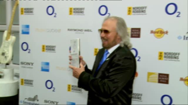 Silver Clef awards ****FLASH Park Lane Hilton Hotel Barry Gibb with Lifetime Achievement award PHOTOGRAPHY****