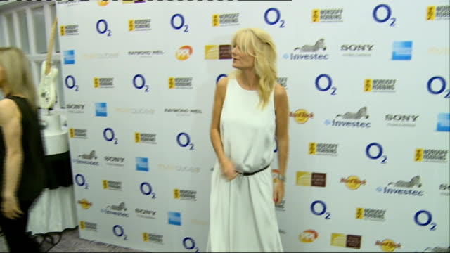 silver clef awards: red carpet interviews; john cooper clarke posing for photocall / alison moyet posing for photocall /cheryl baker and mike nolan... - gaby roslin stock videos & royalty-free footage