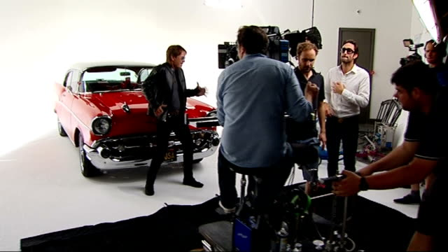 sir cliff richard celebrates one hundredth album release england london int sir cliff richard in studio in front of red car performing unidentified... - album release stock videos and b-roll footage