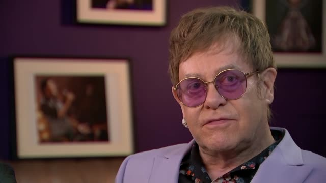 sir elton john and david furnish interview netherlands amsterdam int sir elton john david furnish interview sot on addiction on empowering people to... - elton john stock videos & royalty-free footage