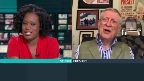 noddy holder interview; england: london: gir: int noddy holder live 2-way interview from cheshire sot - noddy holder stock-videos und b-roll-filmmaterial