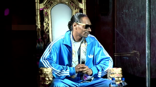 snoop dogg press conference; snoop dogg press conference sot - on whether he lies to his wife about his extravagant lifestyle outside of the home ...... - リアリティー番組点の映像素材/bロール