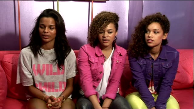 soundgirl interview england london int soundgirl interview sot on how thy got together / sang together in school / on annoying people with singing /... - soundtrack stock videos & royalty-free footage