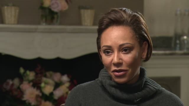 vídeos de stock e filmes b-roll de spice girl mel b interview on her autobiography england london int mel b interview sot on domestic abuse / touring with the spice girls / girl power... - spice girls