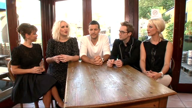 steps interview england london int steps interview sot on steps being back together / how they're feeling / filming their tv show / tickets on sale... - music therapy stock videos & royalty-free footage