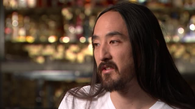 Steve Aoki in Britain for world tour ENGLAND London INT Steve Aoki interview SOT