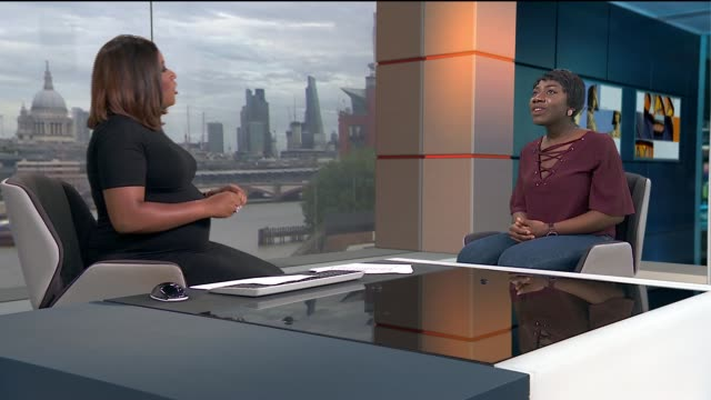 stormzy donates money for london student to go to harvard fiona asiedu live interview sot cutaways reporter - stormzy stock videos and b-roll footage